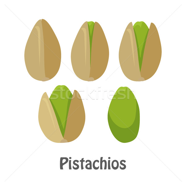 Pistachio Nuts and Pistachio Kernels Stock photo © robuart