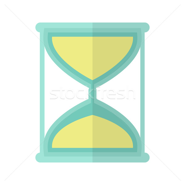 Hourglass Icon in Flat Stock photo © robuart