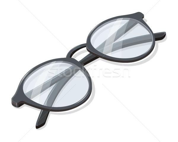 Folded Glasses Vector Illustration in Isometry Stock photo © robuart