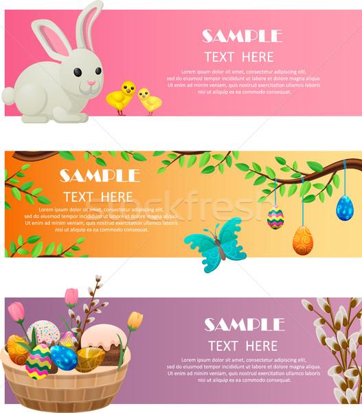 Сток-фото: весны · Пасху · вектора · веб · Баннеры