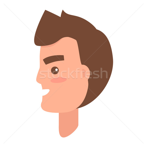 Male Character Face from Sideview Illustration Stock photo © robuart
