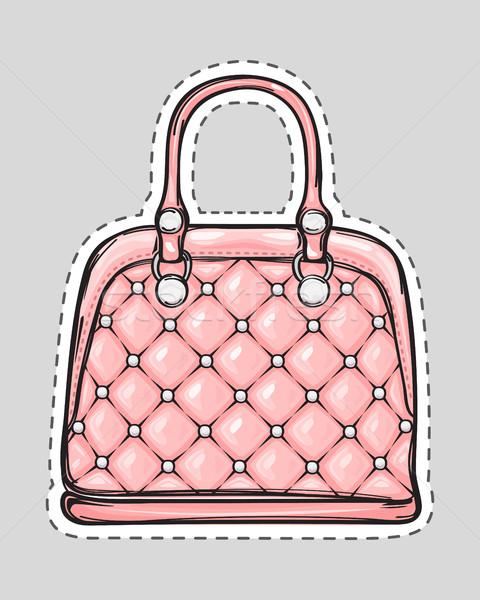 Handtasche Patch Griff isoliert Stil Tasche Stock foto © robuart