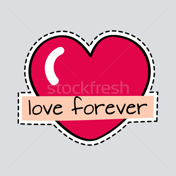 Love Forever. Big Red Heart. Cut it out. Patch Stock photo © robuart