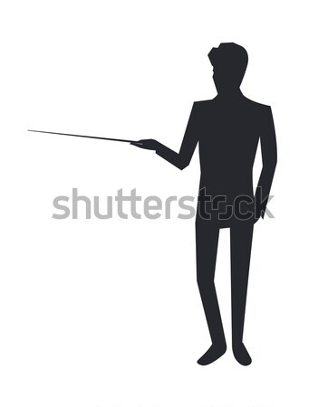 Man Standing Backwards Vector Isometric Icon Stock photo © robuart