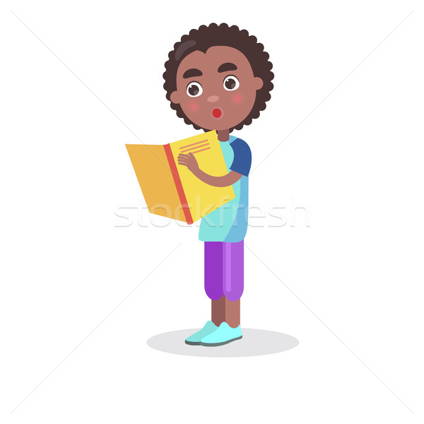 Afrika gülen erkek ders kitabı ilginç Özel Stok fotoğraf © robuart