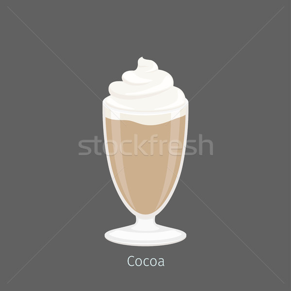 Delicious Hot Cocoa or Drinking Chocolate in Glass Stock photo © robuart