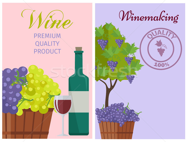 Wine of 100 Premium Quality Promotional Poster Stock photo © robuart
