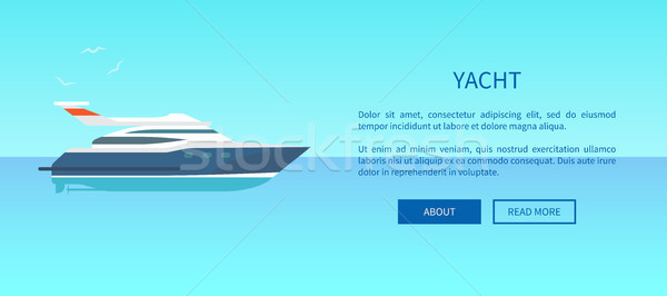 Yacht louer annonce affiche web page Photo stock © robuart