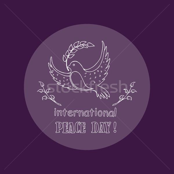Dove symbol międzynarodowych pokoju dzień wektora Zdjęcia stock © robuart