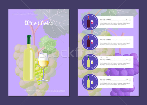 Wine Choice and Menu Card Vector Illustration Stock photo © robuart