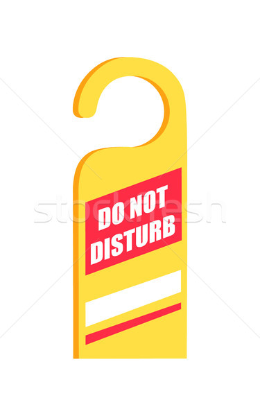 Do Not Disturb Sign Icon Vector Illustration Stock photo © robuart