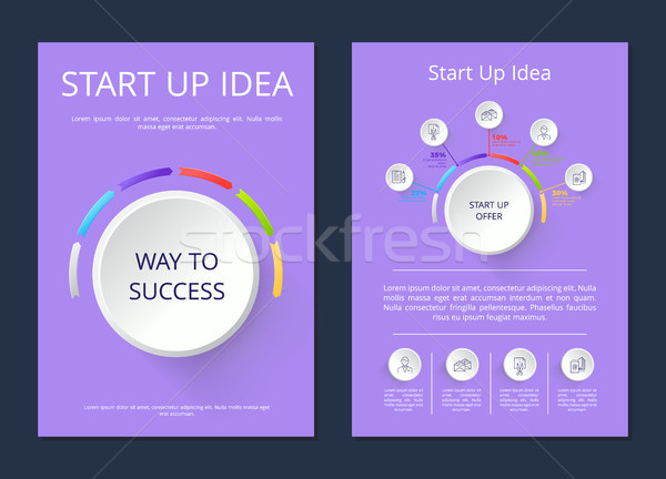 Start Up Idea Way to Success Vector Illustration Stock photo © robuart