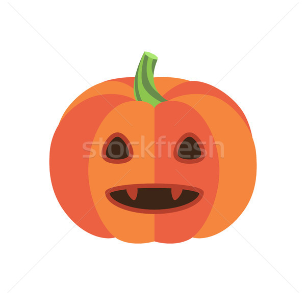 Pumpkin with Triangular Eyes and Sharp Canines Stock photo © robuart