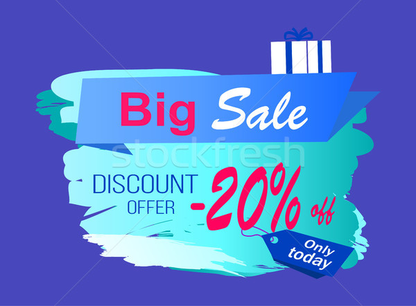 Big Sale Discount Offer Vector Illustration Label Stock photo © robuart