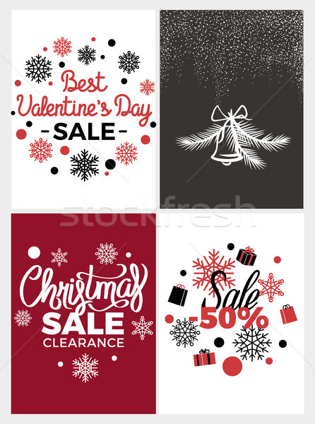 Best Valentines Day Sale Vector Illustration Stock photo © robuart