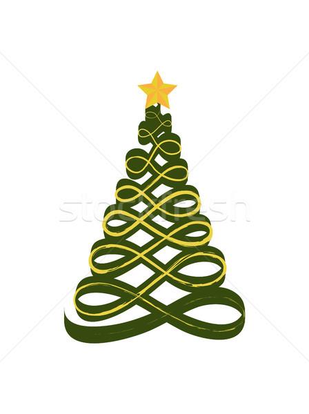 Сток-фото: рождественская · елка · форме · звездой · Top