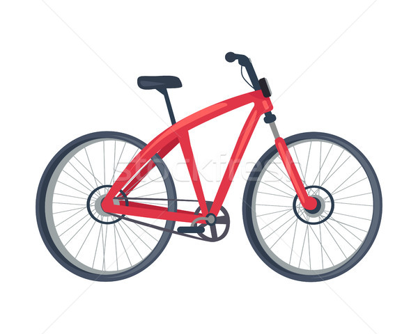 Bike of Red Color Poster, Vector Illustration Stock photo © robuart