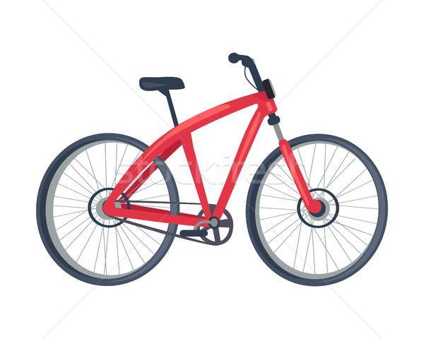Moto rojo color anunciante vehículo dos Foto stock © robuart
