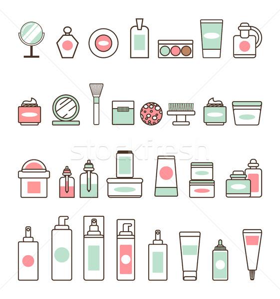 Foto stock: Decorativo · cosméticos · ilustrações · isolado
