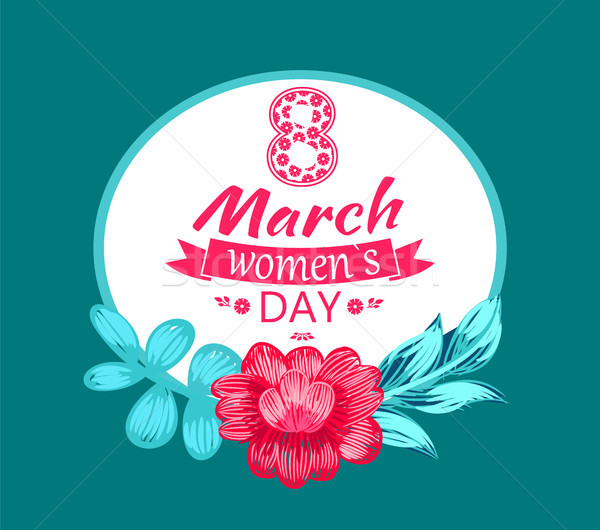 8 March Womens Day Circular Vector Illustration Stock photo © robuart