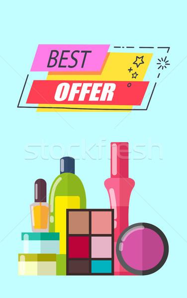 Best Offer Cosmetics Set, Vector Illustration Stock photo © robuart