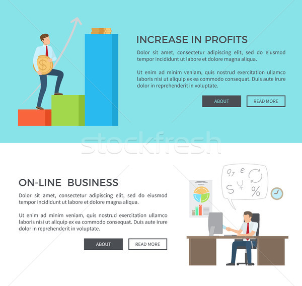 Increase in Profits, Online Vector Illustration Stock photo © robuart