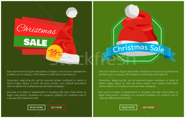 Set of Christmas Ads Posters Vector Illustration Stock photo © robuart