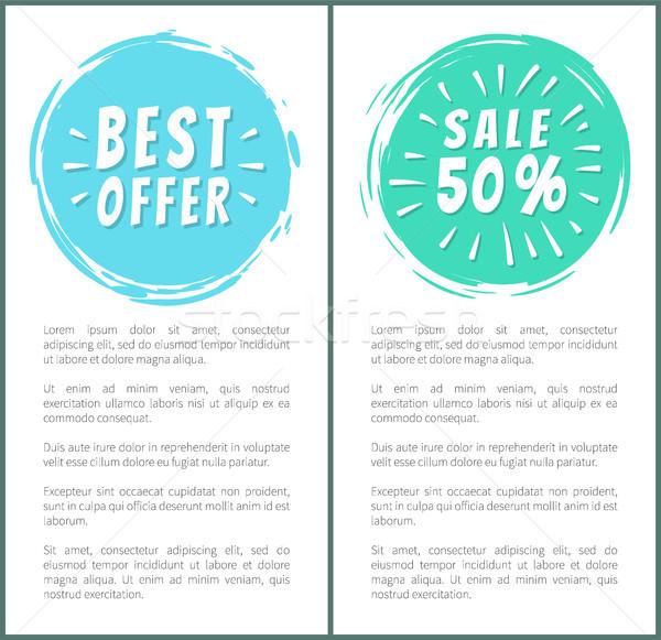 Szett forró vásár legjobb ár hirdetés bannerek Stock fotó © robuart