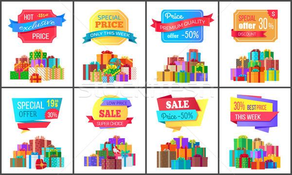 Set special preţ exclusiv reducere postere Imagine de stoc © robuart