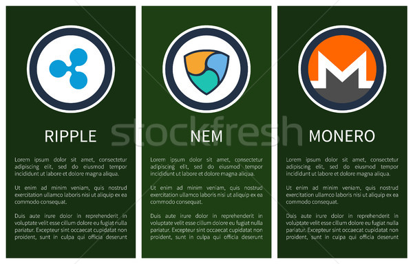 Cryptocurrency Signs inside Circles Promo Posters Stock photo © robuart