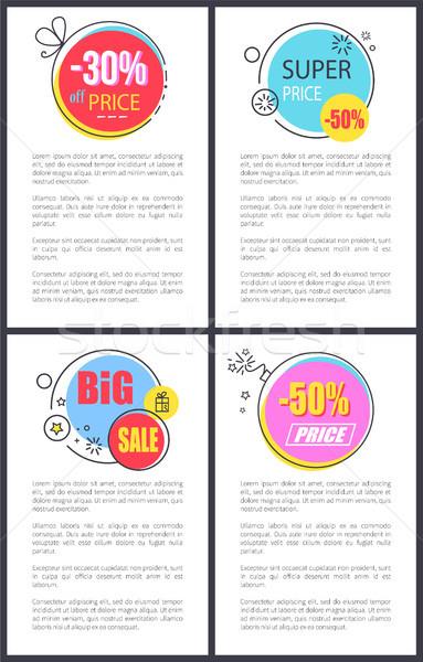 Super Price and Big Sale -50 Vector Illustration Stock photo © robuart