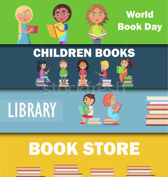World Book Day, Children Library and Bookstore Stock photo © robuart