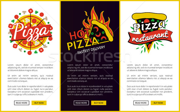 Pizza and Hot Pizza Delivery Vector Illustration Stock photo © robuart