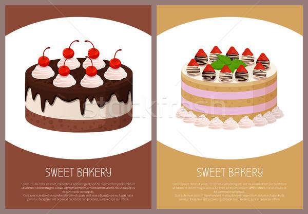 Bolos variedade página on-line compras delicioso Foto stock © robuart