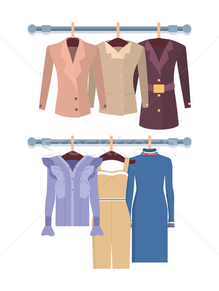 Summer Mode with Dress Jackets Vector Illustration Stock photo © robuart
