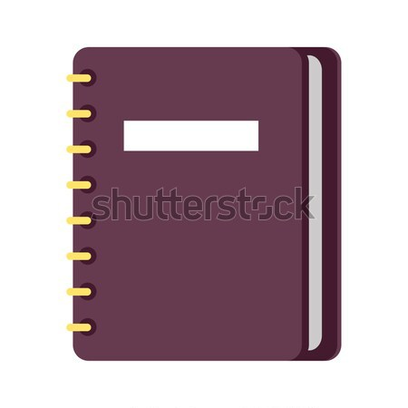 Personal Diary on Ring Binders Flat Vector Icon Stock photo © robuart