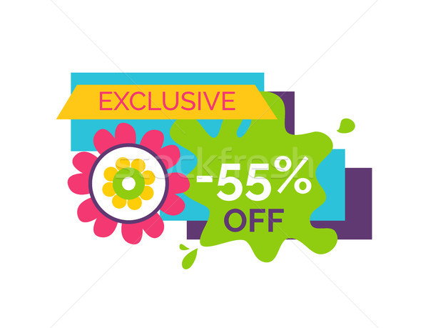 Exclusive 55 Off Premium Label Flower Bud, Vector Stock photo © robuart