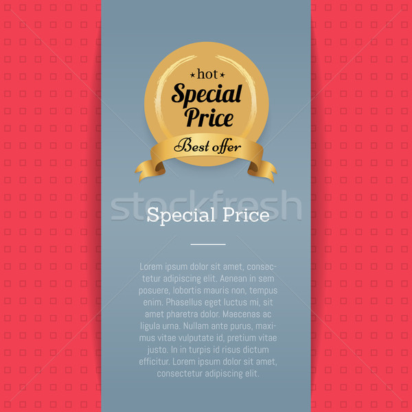 Special Price and Best Offer Vector Illustration Stock photo © robuart
