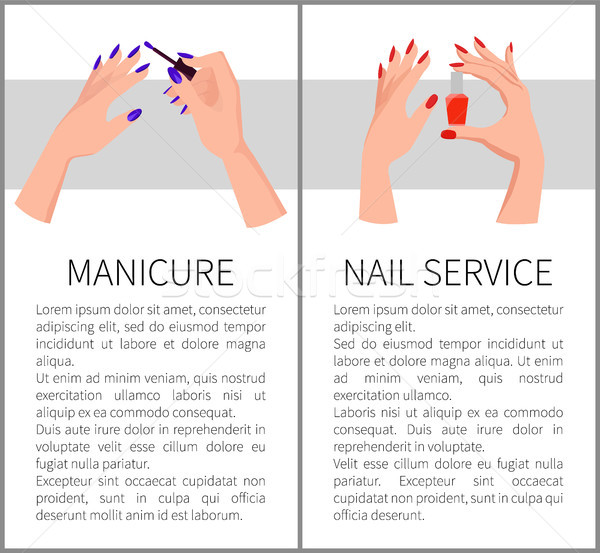 Manicure and Nail Service Card Vector Illustration Stock photo © robuart