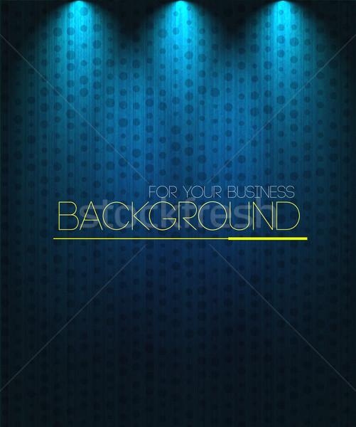 Rampenlicht blau Business Musik Design Hintergrund Stock foto © robuart