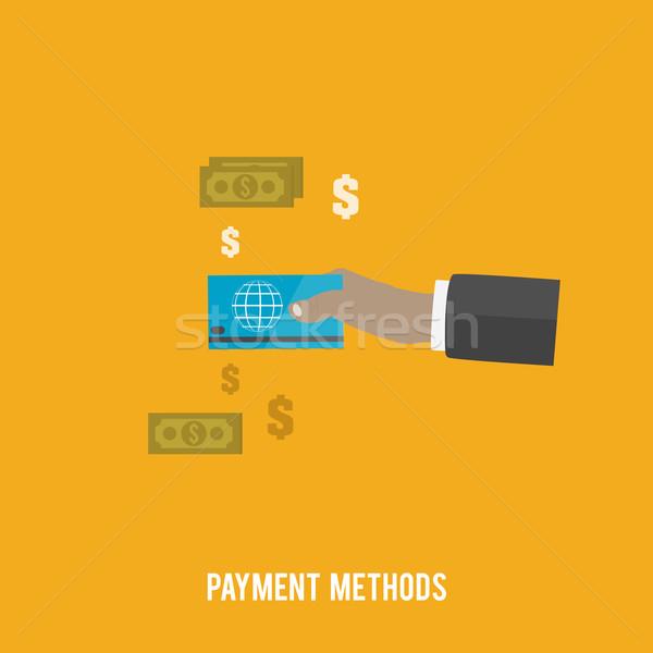 Business Bezahlung Hand Internet Design Zeichen Stock foto © robuart