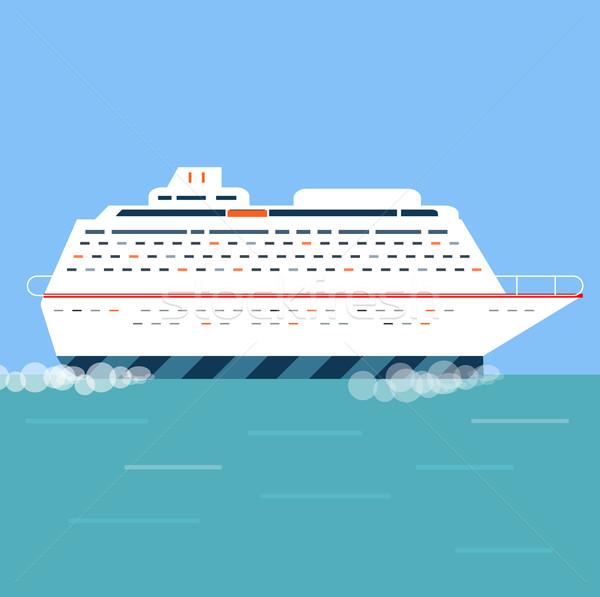 Crucero azul agua turismo iconos Foto stock © robuart