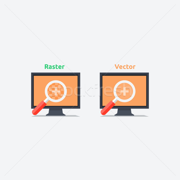 Difference between vector and raster format Stock photo © robuart