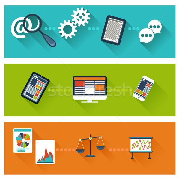 Business ontwikkeling web analytics website optimalisatie Stockfoto © robuart