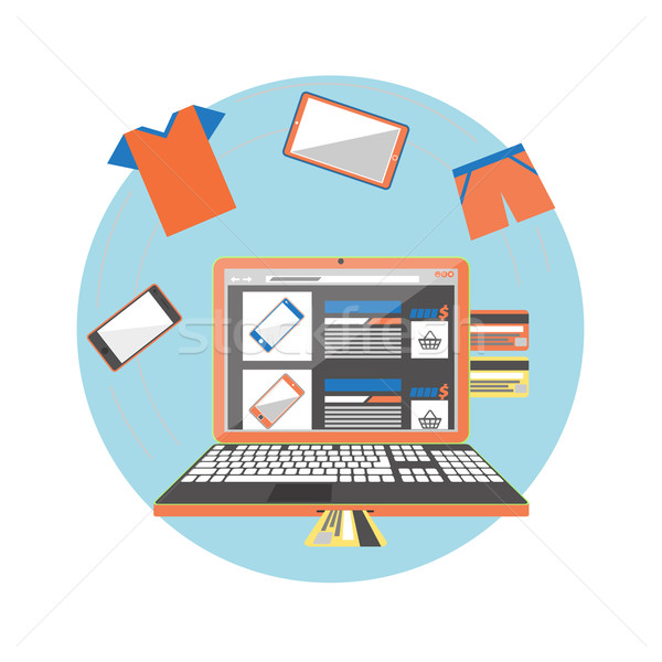 Internet shopping concept Stock photo © robuart