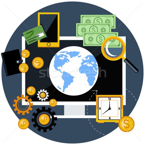 Globalny finansów gospodarki projektu cyfrowe Zdjęcia stock © robuart
