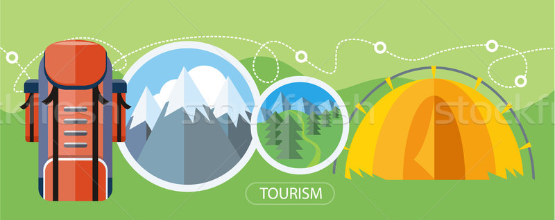 Camping Tourism Concept Stock photo © robuart