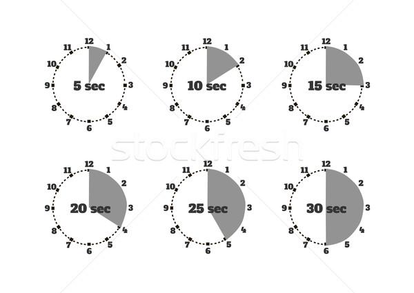 набор время второй секундомер дизайна часы Сток-фото © robuart