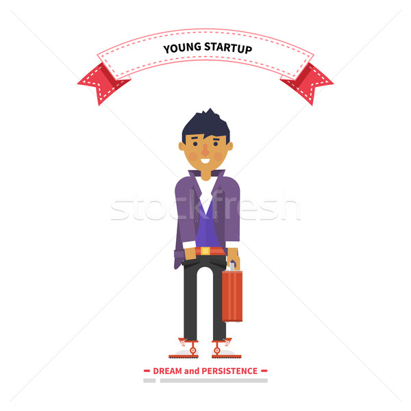 若い男 スタートアップ 夢 小さな ビジネス ストックフォト © robuart