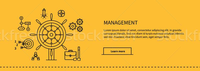 Stok fotoğraf: Yönetim · poster · simgeler · iş · araçları · dizayn